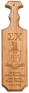 Sigma Chi Traditional Greek Paddle