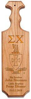 Sigma Chi Traditional Greek Paddle