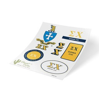 Sigma Chi Traditional Sticker Sheet