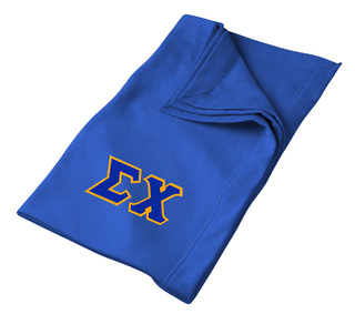 DISCOUNT-Sigma Chi Twill Sweatshirt Blanket