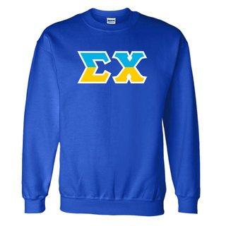 Sigma Chi Two Tone Greek Lettered Crewneck Sweatshirt