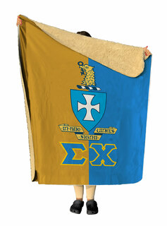 Sigma Chi Two Tone Two Tone Sherpa Lap Blanket