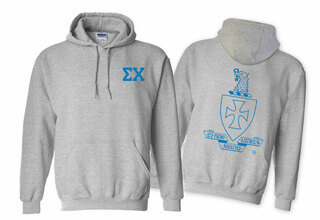 Sigma Chi World Famous Crest - Shield Hooded Sweatshirt- $35!
