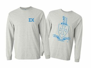 Sigma Chi World Famous Crest - Shield Long Sleeve T-shirts- $19.95!