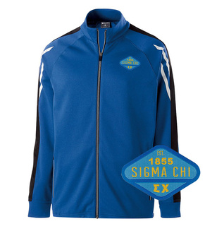 Sigma Chi Woven Emblem Greek Flux Track Jacket