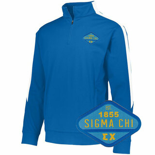 DISCOUNT-Sigma Chi Woven Emblem Greek Medalist Pullover