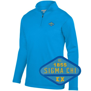 Sigma Chi Woven Emblem Wicking Fleece Pullover