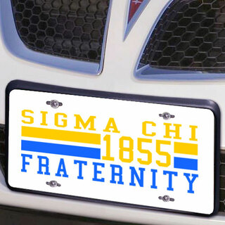 Sigma Chi Year License Plate Cover