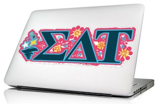 Sigma Delta Tau 10 x 8 Laptop Skin/Wall Decal