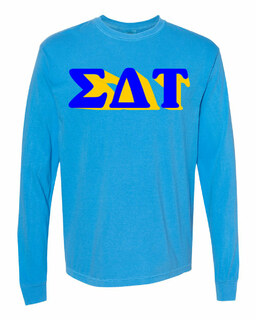 Sigma Delta Tau 3 D Greek Long Sleeve T-Shirt - Comfort Colors