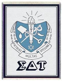 Sigma Delta Tau Afghan Blanket Throw