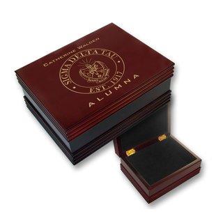Sigma Delta Tau Alumna Wooden Keepsake Box