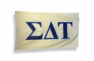 Sigma Delta Tau Big Greek Letter Flag
