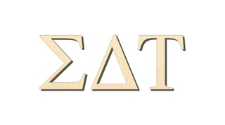Sigma Delta Tau Big Wooden Greek Letters