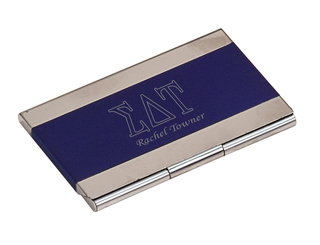 Sigma Delta Tau Business Card Holder