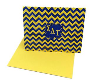 Sigma Delta Tau Chevron Note Cards w/ Envelopes (10)