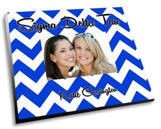 Sigma Delta Tau Chevron Picture Frame