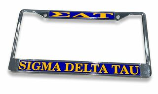Sigma Delta Tau Chrome License Plate Frames