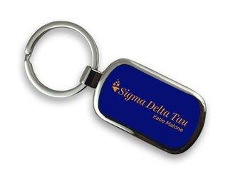 Sigma Delta Tau Chrome Mascot Key Chain