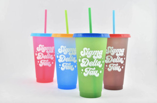Sigma Delta Tau Color Changing Cups (Set of 4)