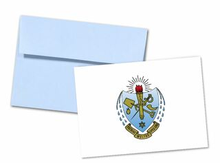 Sigma Delta Tau Color Crest - Shield Notecards(6)