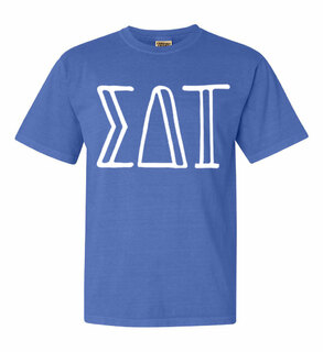 Sigma Delta Tau Comfort Colors Heavyweight Design T-Shirt
