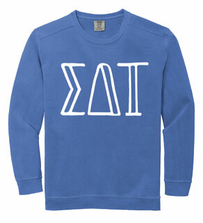 Sigma Delta Tau Comfort Colors Greek Crewneck Sweatshirt