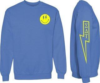 Sigma Delta Tau Comfort Colors Lightning Crew Sweatshirt