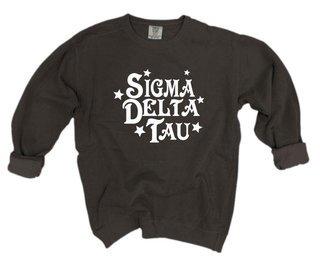 Sigma Delta Tau Comfort Colors Old School Custom Crew
