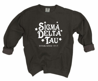 Sigma Delta Tau Comfort Colors Old School Custom Crew