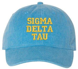 Sigma Delta Tau Comfort Colors Pigment Dyed Baseball Cap