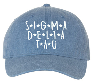 Sigma Delta Tau Comfort Colors Starry Night Pigment Dyed Baseball Cap