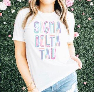 Sigma Delta Tau Comfort Colors Tinsel Tee