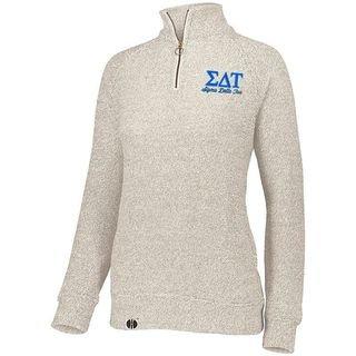 Sigma Delta Tau Cuddly 1/4 Zip Pullover