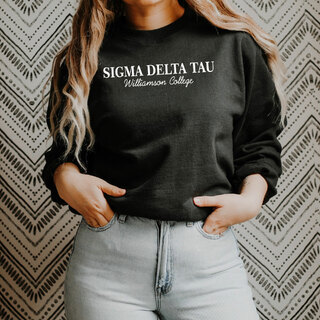 Sigma Delta Tau Script Comfort Colors Greek Crewneck Sweatshirt