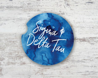 Sigma Delta Tau Sandstone Car Cup Holder Coaster