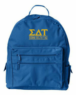 Sigma Delta Tau Custom Text Backpack