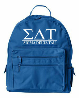 Sigma Delta Tau Custom Text Backpack