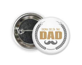 Sigma Delta Tau Dadstache Button