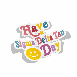 Sigma Delta Tau Day Decal Sticker
