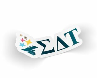 Sigma Delta Tau Die Cut Torch Sticker