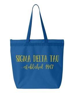 Sigma Delta Tau Established Tote bag