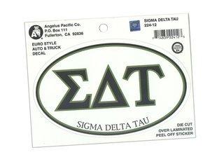 Sigma Delta Tau Euro Style Sticker