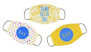 Sigma Delta Tau Face Mask Trio Set