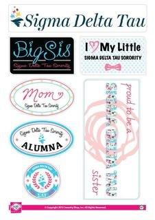 Sigma Delta Tau Family Sticker Sheet