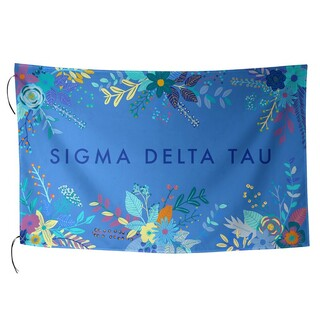 Sigma Delta Tau Floral Flag