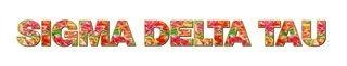 "Sigma Delta Tau Floral Long Window Sticker - 15"" long"