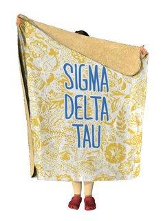 Sigma Delta Tau Floral Sherpa Lap Blanket