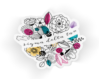Sigma Delta Tau Flower Sticker