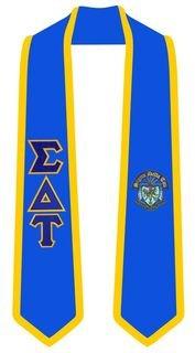 Sigma Delta Tau Greek 2 Tone Lettered Graduation Sash Stole
